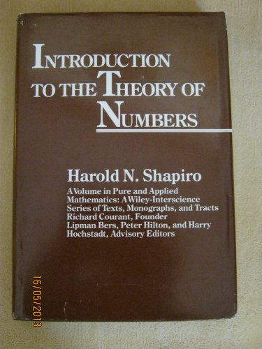 9780471867371: Introduction to the Theory of Numbers (Pure & Applied Mathematics Monograph)