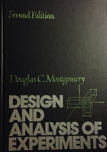 9780471868125: Design and Analysis of Experiments