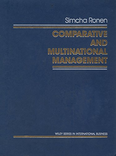 9780471868750: Comparative and Multinational Management (Wiley Series in Management)