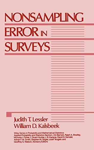 9780471869085: Nonsampling Error in Surveys