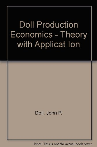 9780471870012: Doll Production Economics - Theory with Applicat Ion