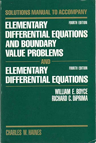 9780471870968: Elementary Differential Equations and Boundary Value Problems, Solutions Manual