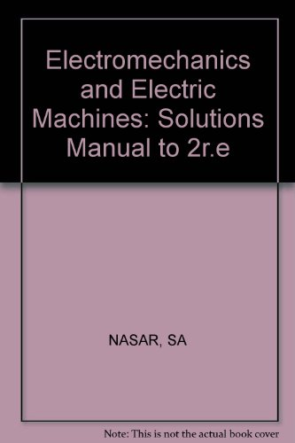 9780471871545: Electromechanics and Electric Machines