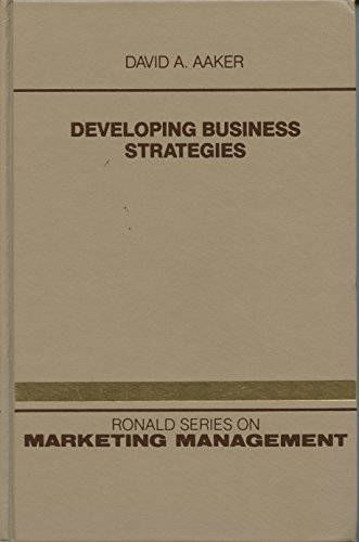 9780471871798: Developing Business Strategies (Marketing Management)