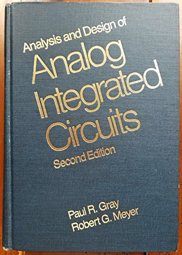 9780471874935: Analysis and Design of Analog Integrated Circuits