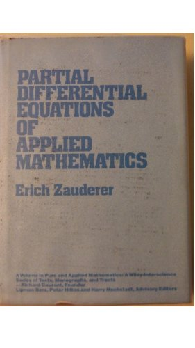 9780471875178: Partial Differential Equations of Applied Mathematics (Pure & Applied Mathematics)