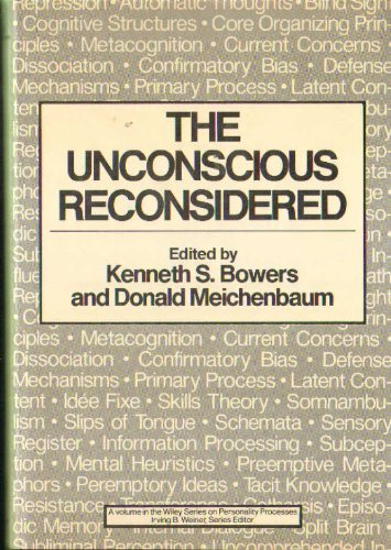 9780471875581: The Unconscious Reconsidered (Wiley Series on Personality Processes)