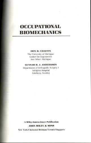 9780471876342: Occupational Biomechanics