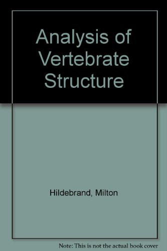 9780471876441: Analysis of Vertebrate Structure