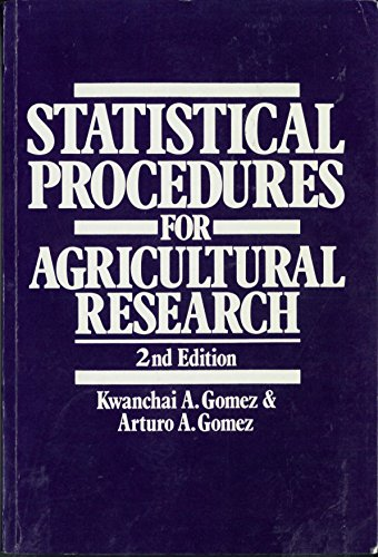 9780471879312: Statistical Procedures for Agricultural Research