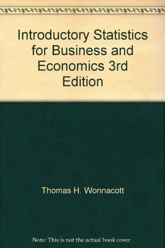 9780471880103: Introductory Statistics for Business and Economics: Instructor's Manual to 3r.e