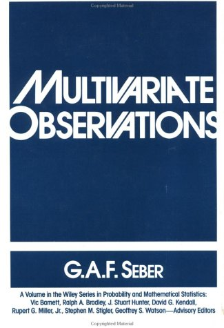 9780471881049: Multivariate Observations (Wiley Series in Probability and Statistics)