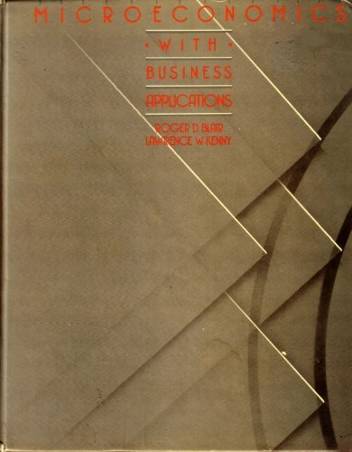 9780471883043: Microeconomics with Business Applications