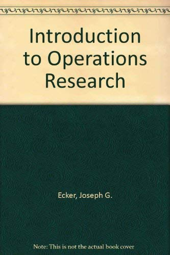 9780471884453: Introduction to Operations Research