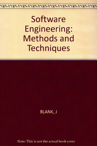 9780471885030: Software engineering--methods and techniques