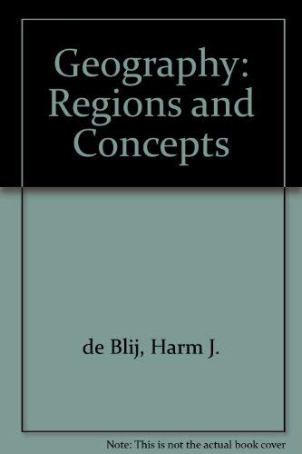 9780471885962: Geography: Regions and Concepts