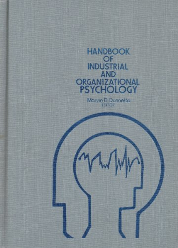9780471886426: Handbook of Industrial and Organizational Psychology