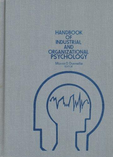 9780471886426: Handbook of Industrial and Organizational Psychology