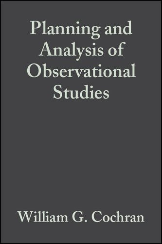 9780471887195: Planning and Analysis of Observational Studies (Wiley Series in Probability and Statistics)