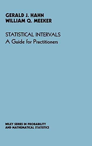 9780471887690: Statistical Intervals: A Guide for Practitioners (Wiley Series in Probability and Statistics)