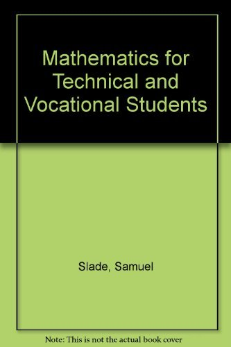 9780471888284: Mathematics for Technical and Vocational Students