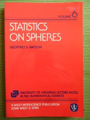 9780471888666: Statistics on Spheres (The University of Arkansas