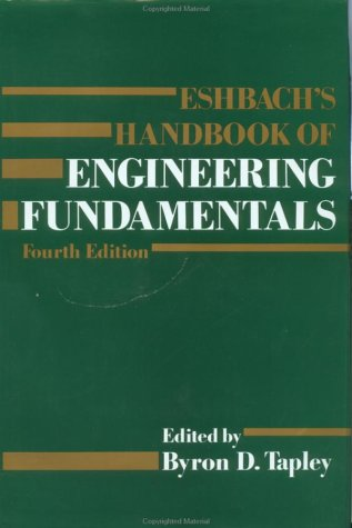 9780471890843: Eshbach's Handbook of Engineering Fundamentals, 4th Edition