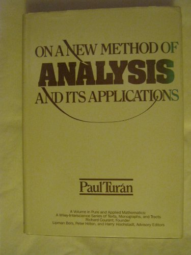 9780471892557: On a New Method of Analysis and Its Applications (Pure & Applied Mathematics)
