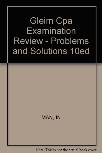 9780471893462: Gleim Cpa Examination Review - Problems and Solutions 10ed