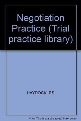 9780471894889: Negotiation Practice (General practice library)