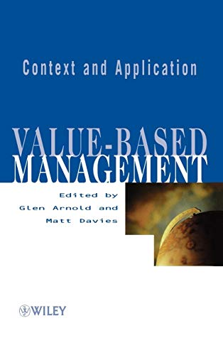 9780471899860: Value-based Management: Context and Application