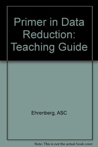 9780471900863: Primer in Data Reduction: Teaching Guide
