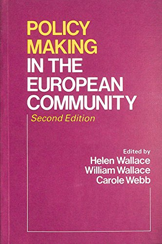Policy-making in the European Community.: Wallace, Helen