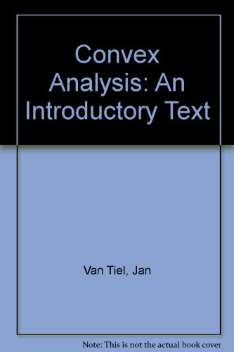9780471902638: Convex Analysis: An Introductory Text