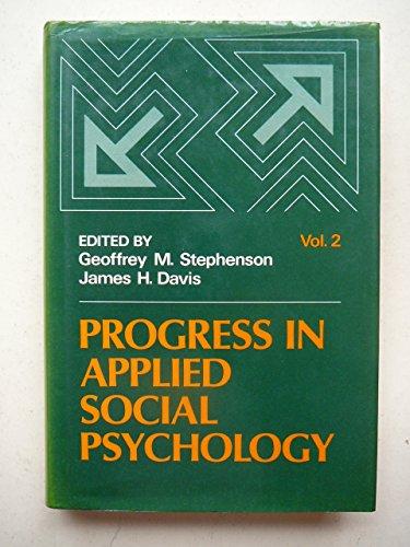9780471903611: Progress in Applied Social Psychology (Volume 2)