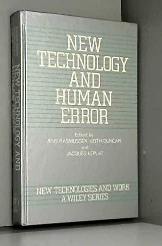9780471910442: New Technology and Human Error (New Technologies and Work: A Wiley Series)
