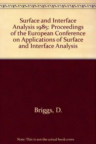 9780471911609: SIA: Surface and Interface Analysis Ecasia 85