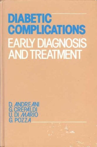 9780471916789: Diabetic Complications: Early Diagnosis and Treatment (A Wiley medical publication)