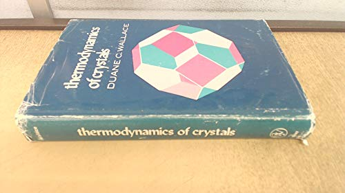 9780471918554: Thermodynamics of Crystals