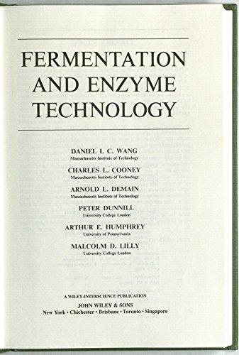 9780471919452: Fermentation and Enzyme Technology (Techniques in pure & applied microbiology)