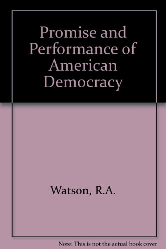9780471922056: Promise and Performance of American Democracy