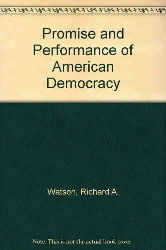 9780471922254: Promise and Performance of American Democracy