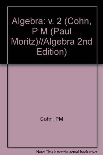 9780471922346: Algebra. Volume 2. Second Edition