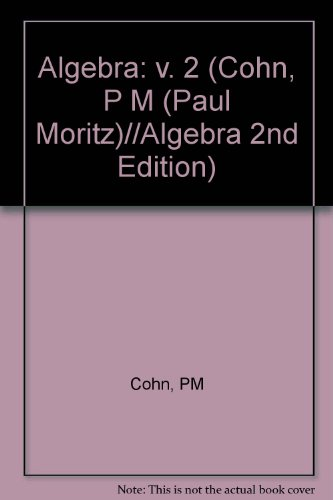 9780471922346: Algebra. Volume 2. Second Edition