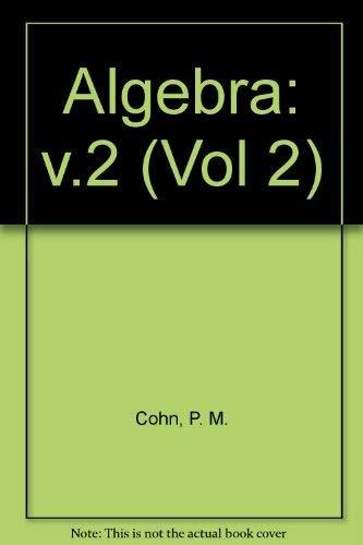 9780471922353: Algebra: v.2 (Vol 2)