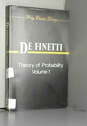 9780471926115: Theory of Probability, Volume 1: A Critical Introductory Treatment (Wiley Classics Library)