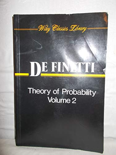 9780471926122: Theory of Probability: A Critical Introductory Treatment: 2
