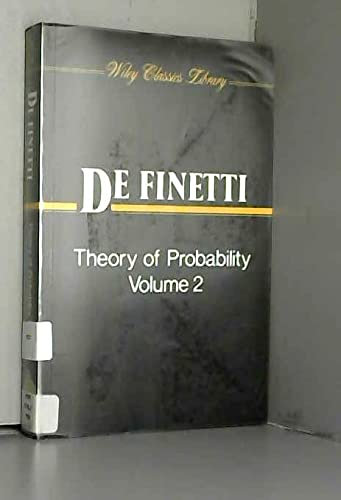 9780471926122: Theory of Probability: A Critical Introductory Treatment, Volume 2 (Wiley Classics Library)