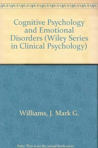 9780471929666: Cognitive Psychology and Emotional Disorders (Wiley Series in Clinical Psychology)