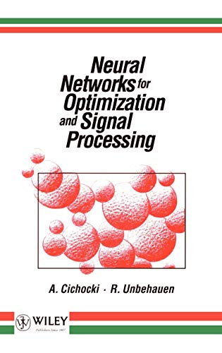 9780471930105: Neural Networks for Optimization and Signal Processing